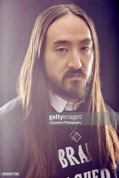American electro house musician record producer and music executive Steve Aoki is photographed for Locale Magazine on November 17 2016 in Los Angeles...