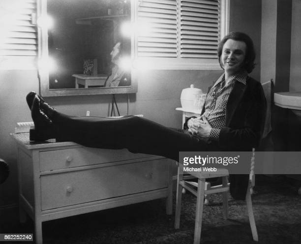 American entertainer and female impersonator Jim Bailey in his dressing room at the London Palladium before a performance 22nd May 1973 He will be...