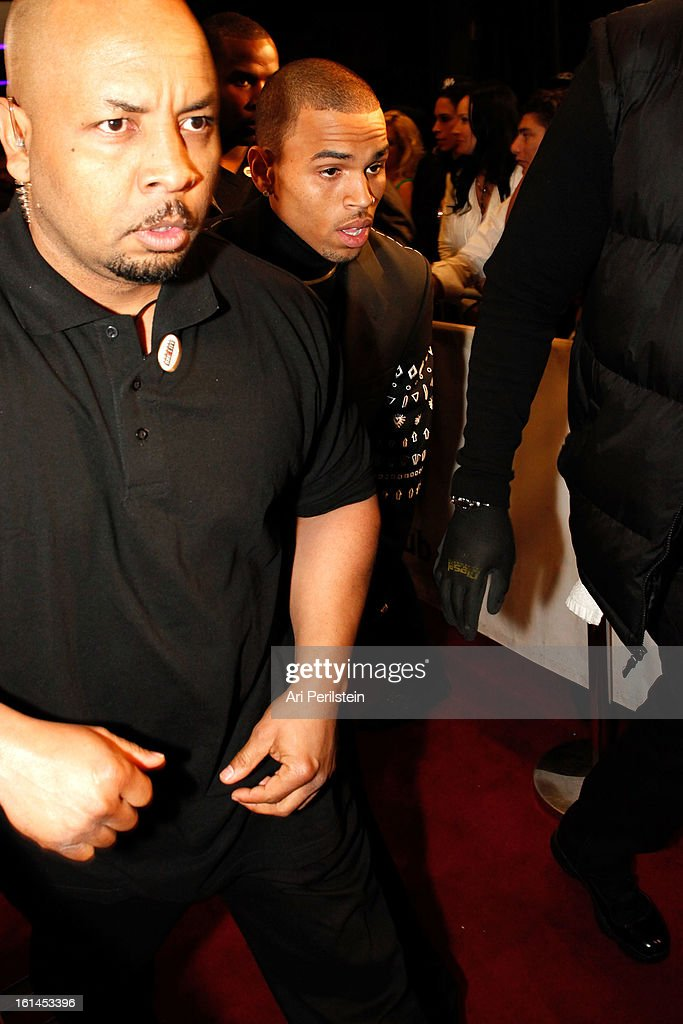 American Entertainer Chris Brown arrives at Post Grammy Party At Supperclub Hosted By Chris Brown And ZING VodkaLos Angeles on February 10, 2013 in Los Angeles, California.