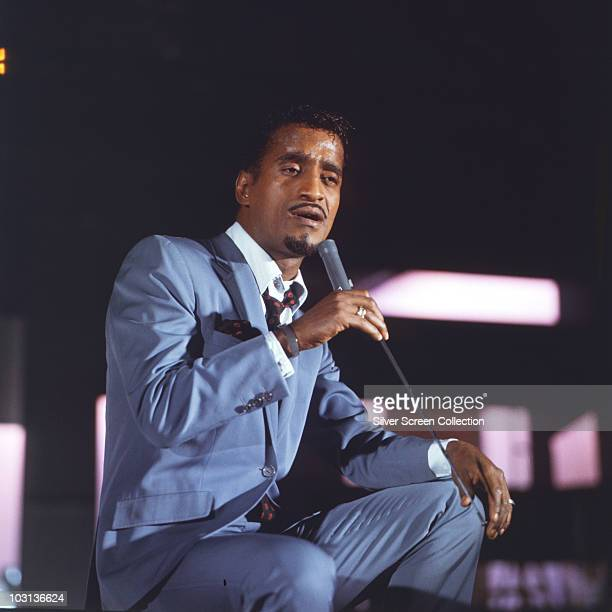 American entertainer Sammy Davis Jr in concert circa 1965