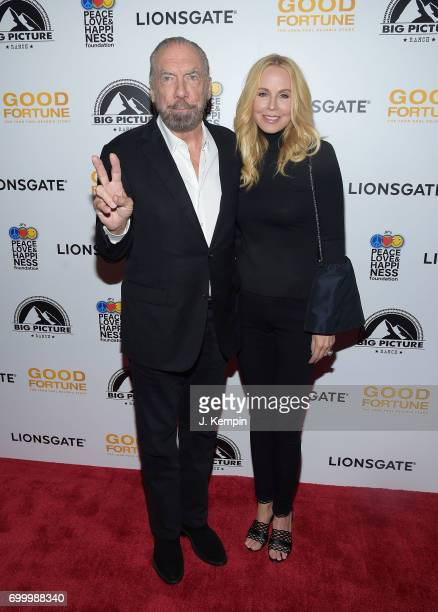 American entrepreneur John Paul DeJoria and wife Eloise Broady attend the 'Good Fortune' New York Premiere at AMC Loews Lincoln Square 13 theater on...