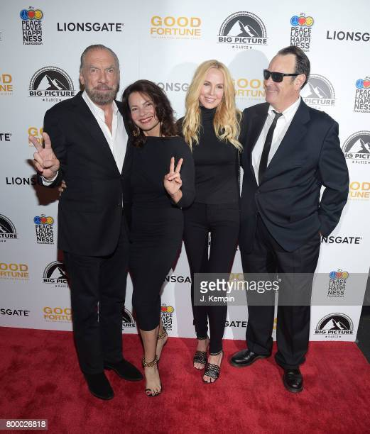 American entrepreneur John Paul DeJoria Fran Drescher Eloise Broady and Dan Aykroyd attend the 'Good Fortune' New York Premiere at AMC Loews Lincoln...