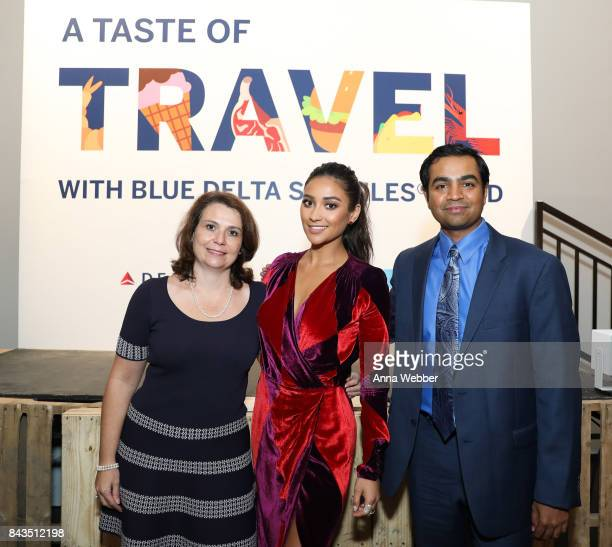 American Express Executive VP GM of Partnerships Product Development Eva Reda Actress/Model Shay Mitchell and Delta Air Lines VP of Customer...