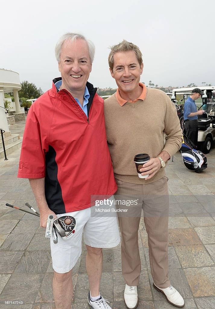 American Express Publishing President & CEO Ed Kelly (L) and actor Kyle MacLachlan attend The American Express Publishing Luxury Summit 2013 at St. Regis Monarch Beach Resort on April 21, 2013 in Dana Point, California.