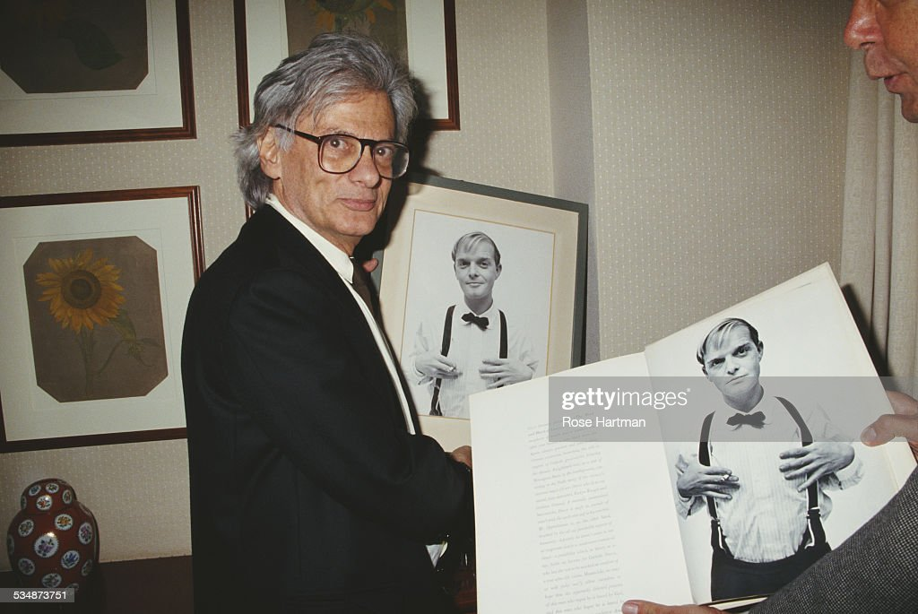 American fashion and portrait photographer Richard Avedon at tribute event for Truman Capote 1994