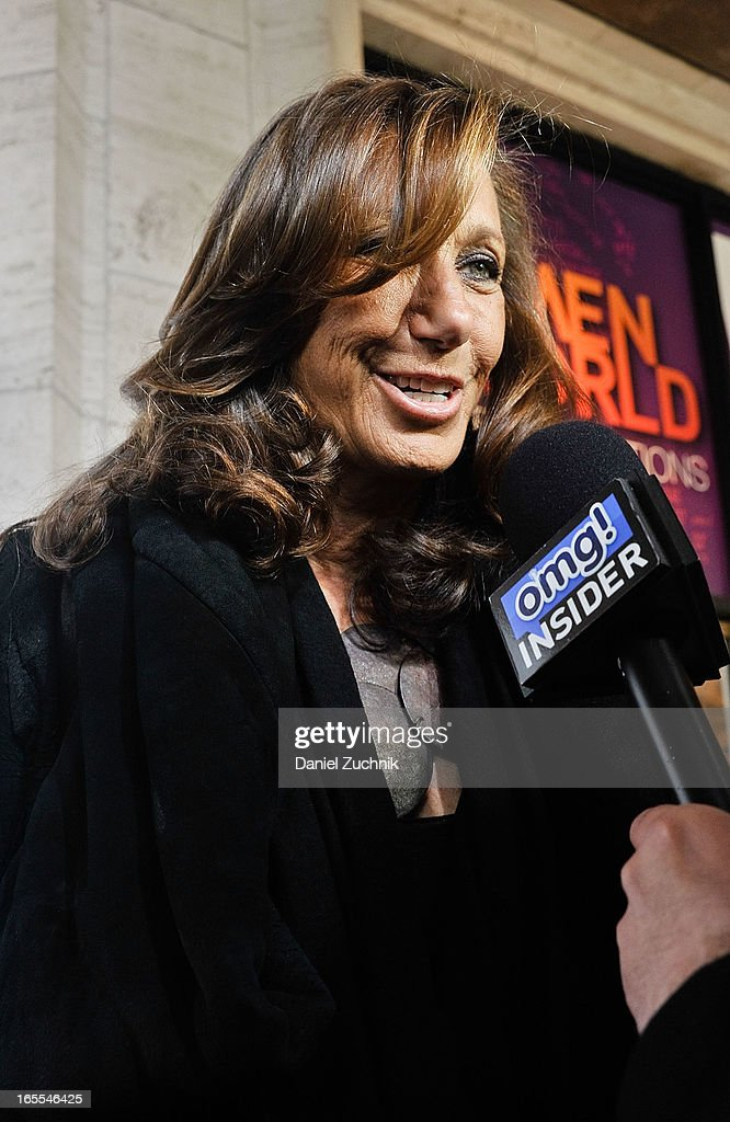 American fashion designer Donna Karan attends the Women in the World Summit 2013 on April 4, 2013 in New York City.