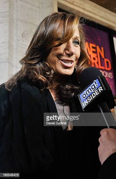 American fashion designer Donna Karan attends the Women in the World Summit 2013 on April 4 2013 in New York City