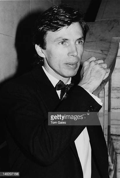 American fashion designer Perry Ellis at the Council of Fashion Designers of America 1981 awards dinner at the New York Public Library on 42nd Street...