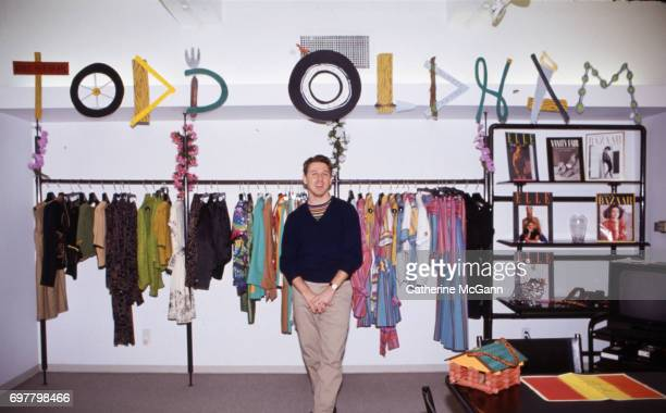 American fashion designer Todd Oldham poses for a portrait in his studio in January 1992 in New York City New York