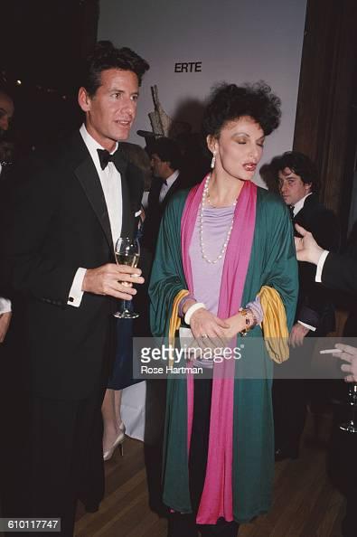 American fashion designers Calvin Klein and Diane von Furstenberg at a function in Soho New York City 1982