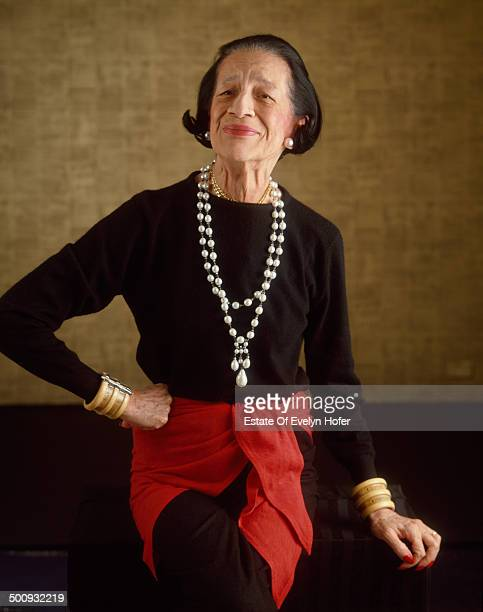 American fashion editor Diana Vreeland New York 1981