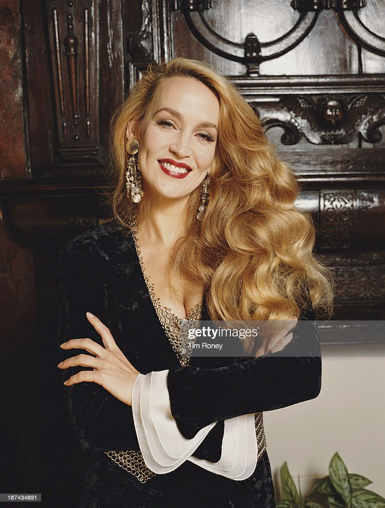 American fashion model Jerry Hall, circa 1995.