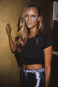American fashion model Tyra Banks at the 1st Annual Ribbon Benefit Fashion Show USA 21st September 1995