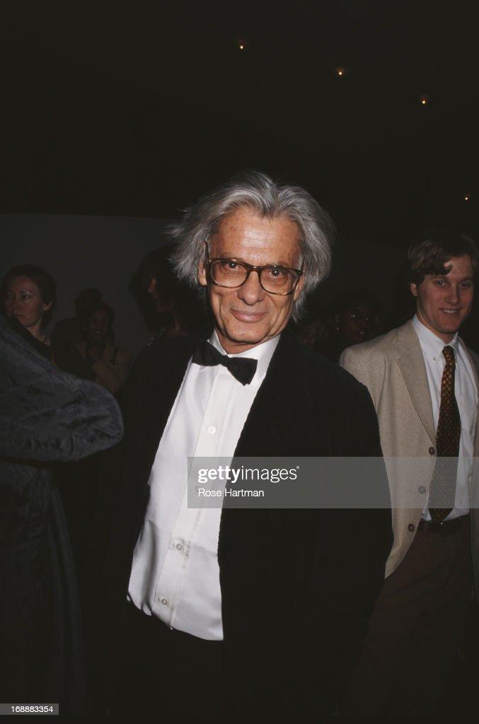 American fashion photographer Richard Avedon at the American Ballet Theatre Spring Gala USA 1995