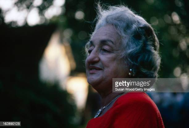American feminist author and social activist Betty Friedan photographed outside her home Sag Harbor New York 1988