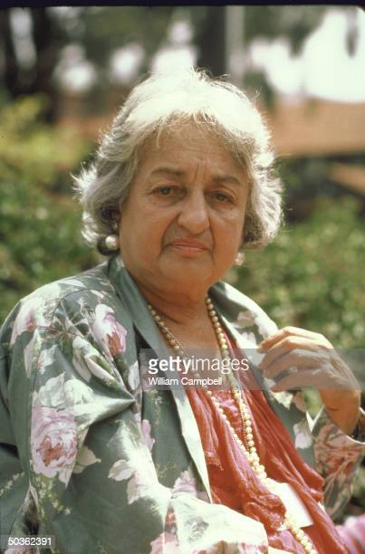 American Feminist Betty Friedan attending Forum 1985 women's conference