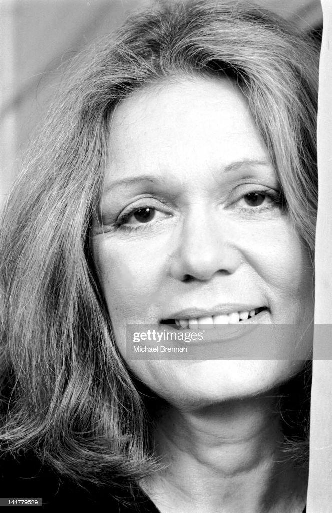 American feminist writer Gloria Steinem in her Manhattan apartment, New York City, March 1992.