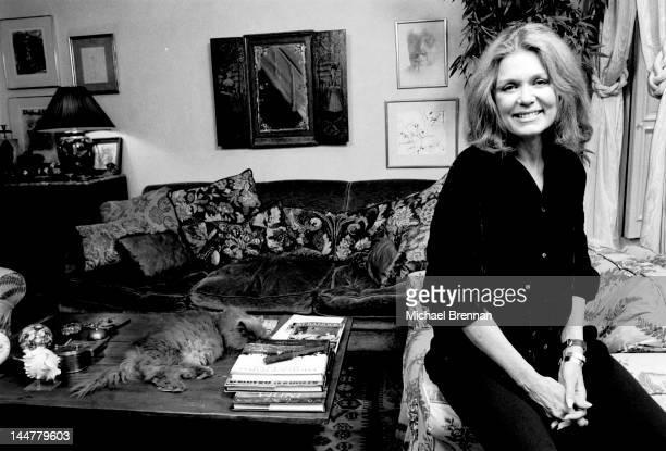 American feminist writer Gloria Steinem in her Manhattan apartment New York City March 1992