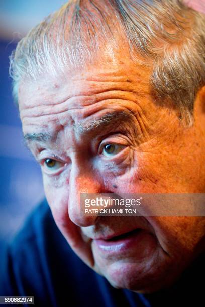 American fight promoter Bob Arum looks on during the prefight weighin for Australian Jeff Horn and his British opponent Gary Corcoran at the Brisbane...