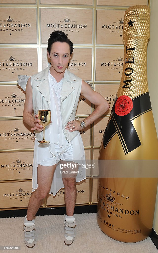American figure skater Johnny Weir attends he Moet & Chandon Suite at USTA Billie Jean King National Tennis Center on August 26, 2013 in New York City.