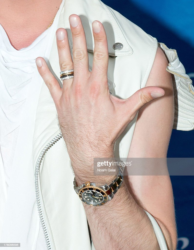 American figure skater <a gi-track='captionPersonalityLinkClicked' href=/galleries/search?phrase=Johnny+Weir&family=editorial&specificpeople=208701 ng-click='$event.stopPropagation()'>Johnny Weir</a> (jewelry detail)attends the 13th Annual USTA Serves Opening Night Gala at USTA Billie Jean King National Tennis Center on August 26, 2013 in New York City.