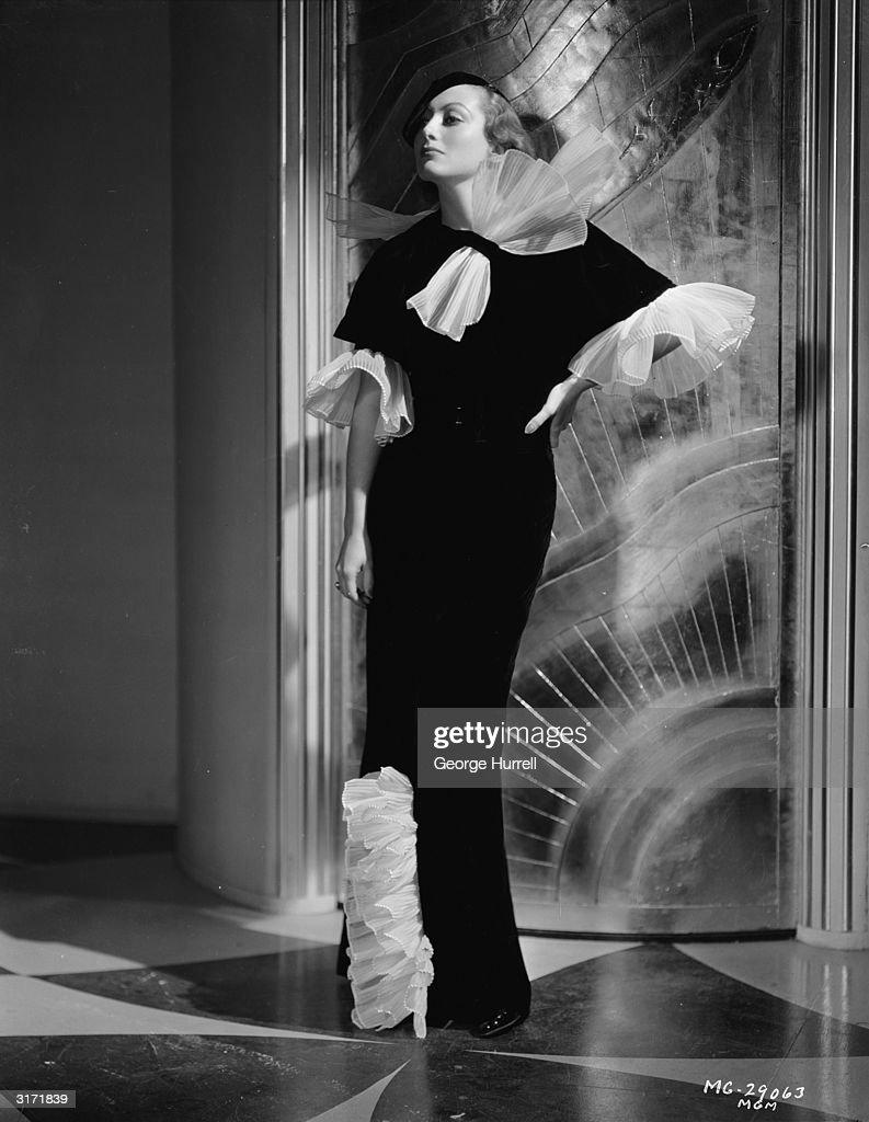 American film actress Joan Crawford plays the title role in director Clarence Brown's drama 'Letty Lynton' Costumes by Adrian