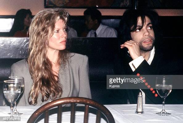 American film actress Kim Basinger with singer Prince circa 1988