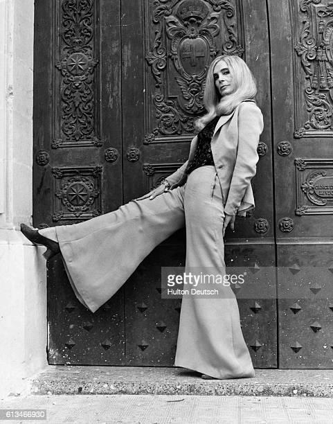 American film actress Lizabeth Scott filming on location in Malta 1972 Ms Scott is starring in the film 'Pulp'