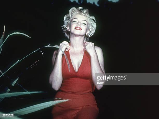 American film actress Marilyn Monroe
