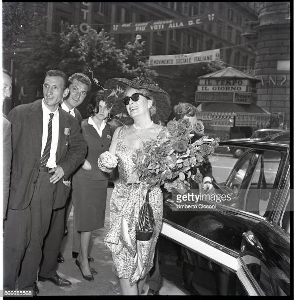 American film and television actress Joan Crawford in Via Veneto Rome May 1962