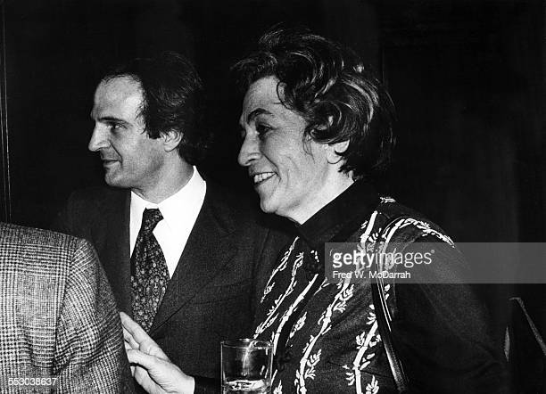 American film critic Pauline Kael and French film director and critic Francois Truffaut attend the New York Film Critics Awards New Yotk New York...
