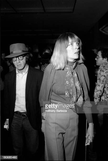 American film director and actor Woody Allen and actress Diane Keaton arrive at an unspecified event New York New York July 25 1972