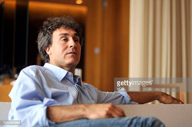 American film director and producer Doug Liman is interviewed on October 13 2010 in Beijing China