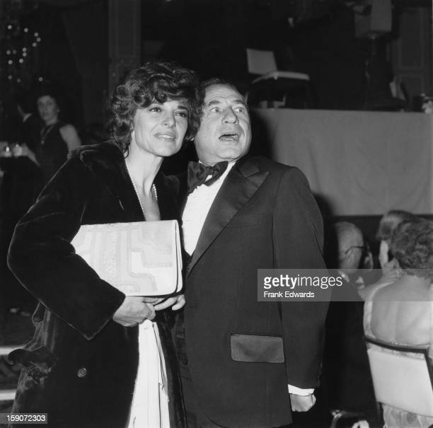 American film director and screenwriter Mel Brooks and his wife actress Anne Bancroft attend the 34th Annual Golden Globe Awards at the Beverly...
