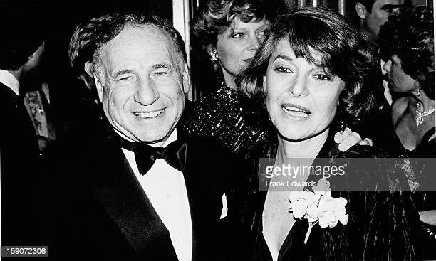 American film director and screenwriter Mel Brooks and his wife actress Anne Bancroft attend the 44th Annual Golden Globe Awards at the Beverly...