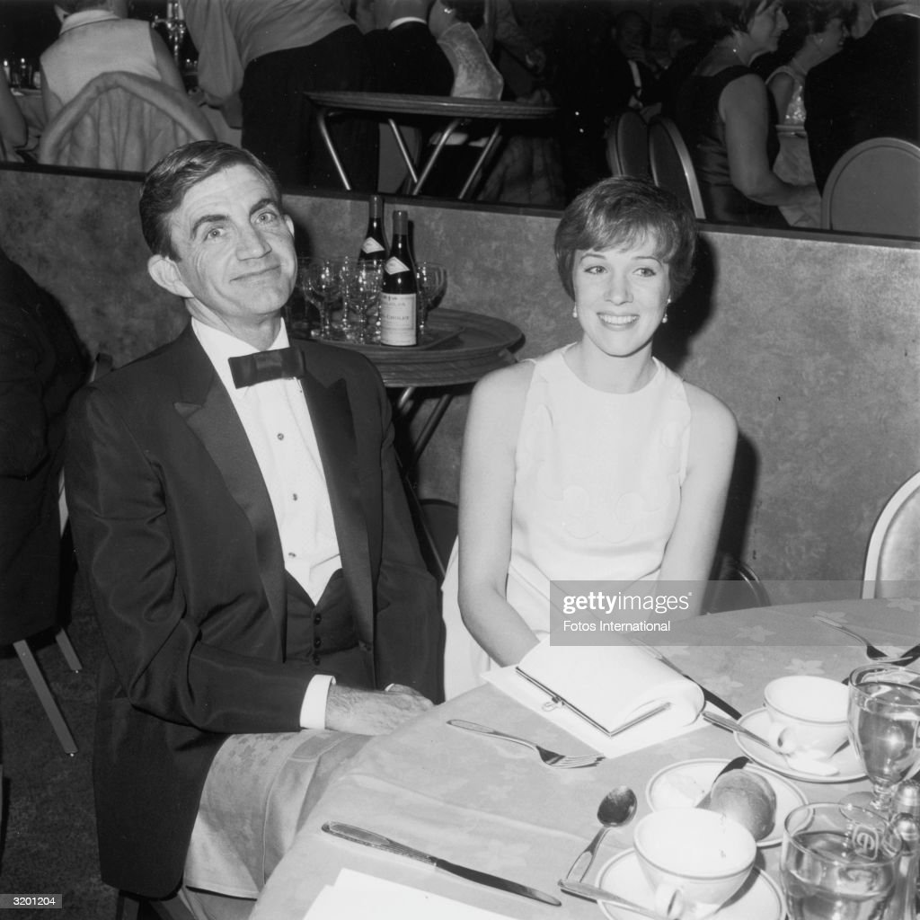 American film director and writer Blake Edwards and his future wife, British actor and singer Julie Andrews, attend the Eddie Awards, Hollywood, California.