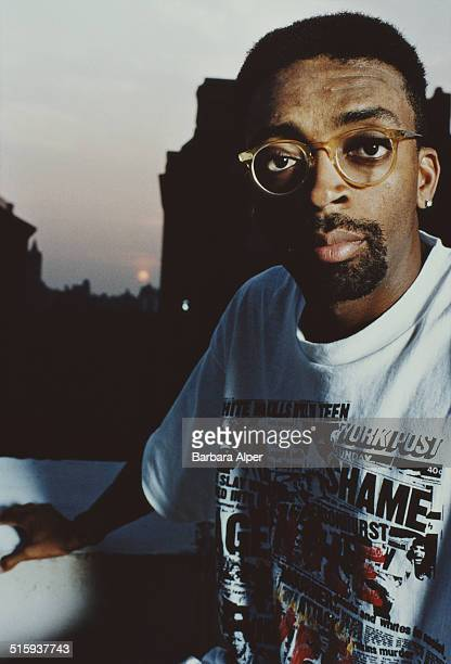 American film director and writer Spike Lee at the Mark Hotel in New York City 16th July 1990