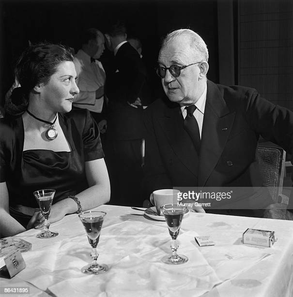 American film director John Ford at a party in Hollywood California circa 1950