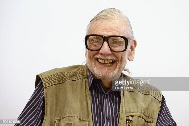 American film Director screen writer and editor George Romero attends a press conference during the Lucca Film Festival 2016 on April 7 2016 in Lucca...