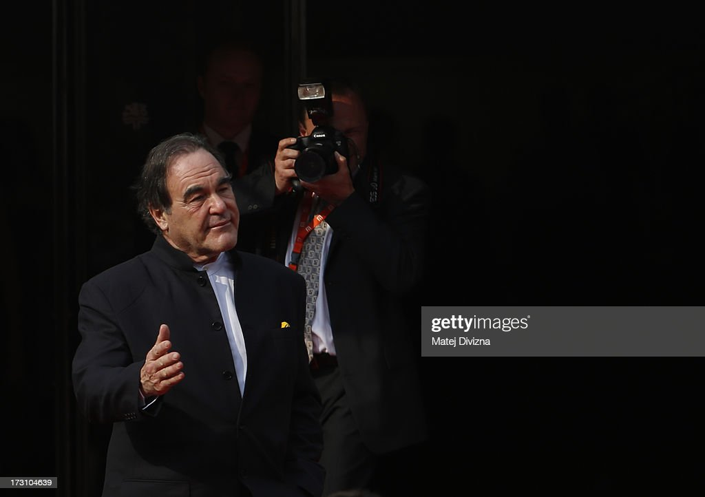 American film director, screenwriter, producer <a gi-track='captionPersonalityLinkClicked' href=/galleries/search?phrase=Oliver+Stone&family=editorial&specificpeople=173458 ng-click='$event.stopPropagation()'>Oliver Stone</a> arrives for the closing ceremony of the 48th Karlovy Vary International Film Festival (KVIFF) on July 06, 2013 in Karlovy Vary, Czech Republic.