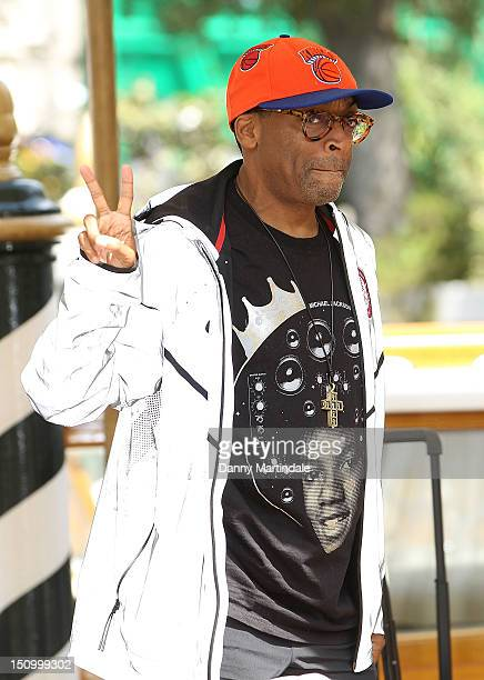 American film director Spike Lee attends the 69th Venice Film Festival on August 30 2012 in Venice Italy