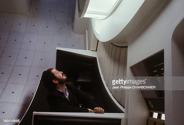 American film director Stanley Kubrick on the set of the movie '2001 A Space Odyssey' 1968 in United Kingdon
