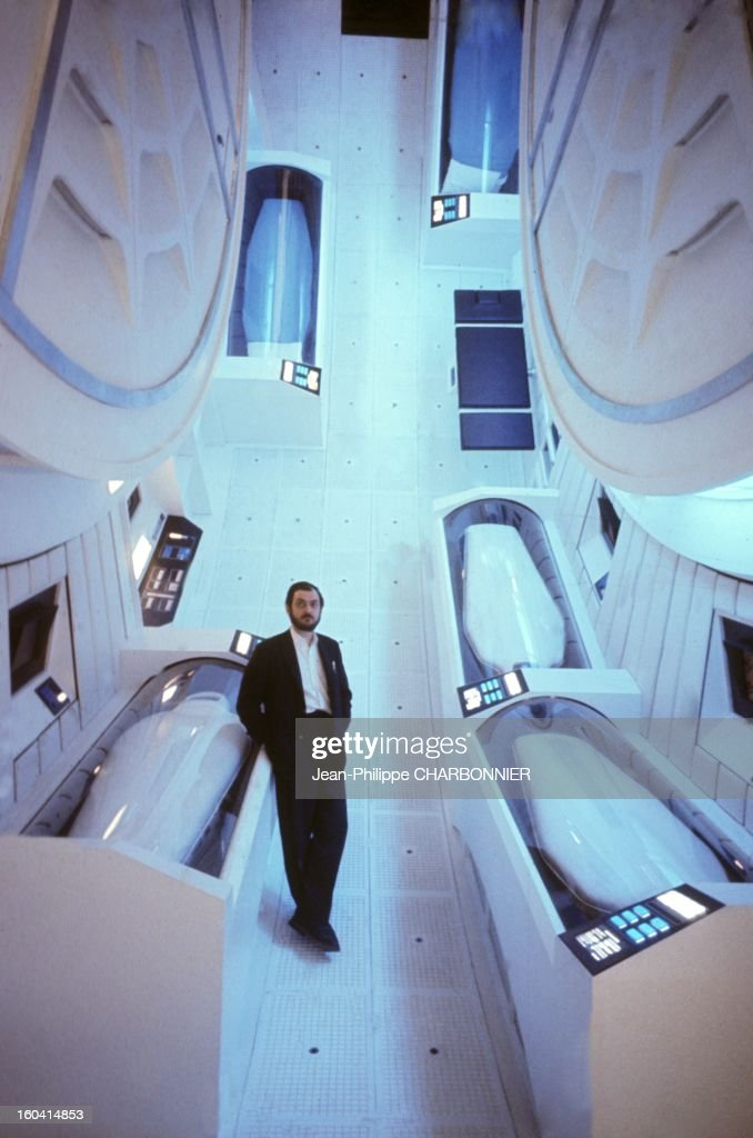 American film director Stanley Kubrick on the set of the movie '2001: A Space Odyssey', 1968 in United Kingdon.