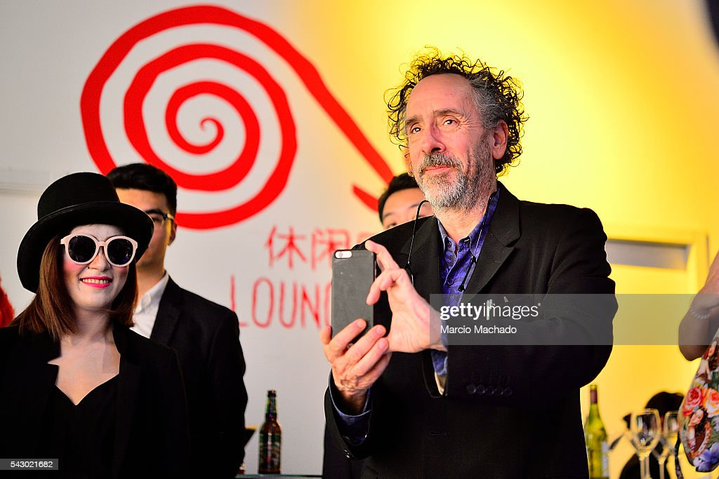American Film Director Tim Burton during the launch of his creative production The World of Tim Burton on June 25, 2016 in Shanghai, China.