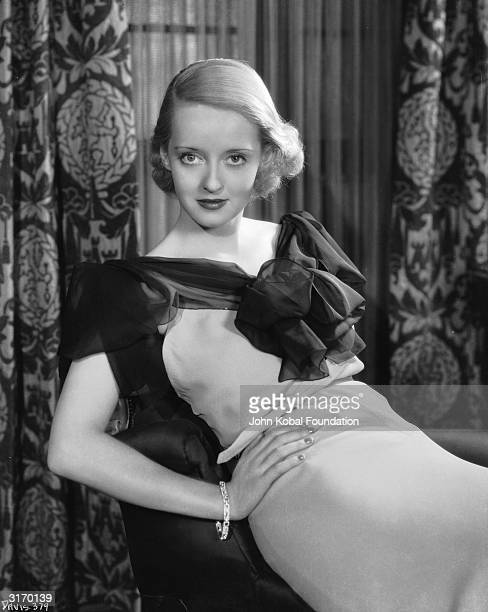 American film star Bette Davis who signed for Warner Brothers in 1932 after a spell at Universal Studios