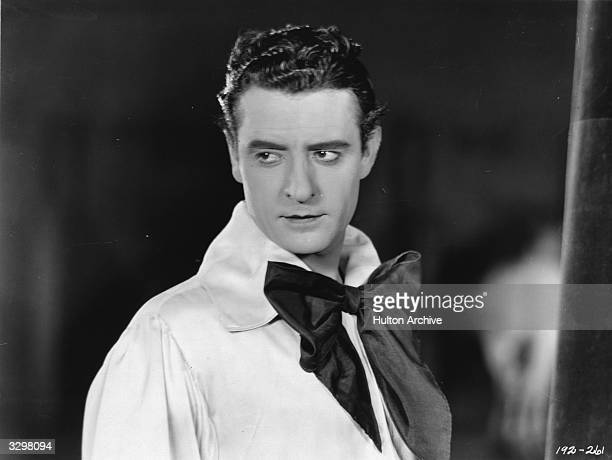 American film star John Gilbert formerly John Pringle who was unsuccessful with sound movies and became an alcoholic He is viewed in scene from 'He...