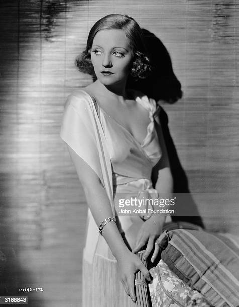 American film star Tallulah Bankhead wearing a silk negligee in a promotional still for the 1932 film 'Devil And The Deep' Bankhead regularly starred...