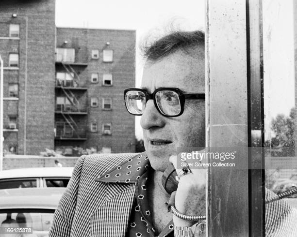 American filmmaker Woody Allen as Alvy Singer in his romantic comedy 'Annie Hall' New York 1977