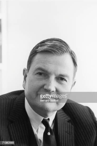 American financier David Rockefeller sits for a portrait 1967