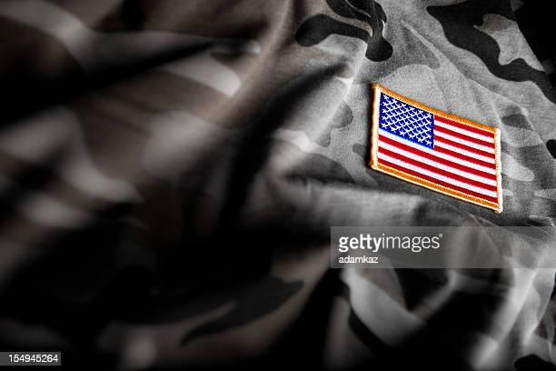 Drapeau américain et camouflage militaire (série